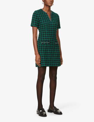 Sandro Clyo houndstooth-checked mini dress