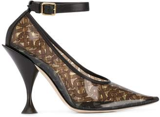 Burberry monogram pointed pumps