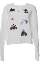 Ground Zero Harry Potter Embroidered Oversized Sweatshirt