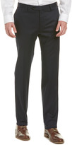 Canali Flat Front Stretch Cotton Trouser