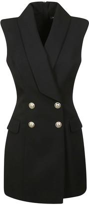 Balmain Rear Zip Double-breasted Blazer