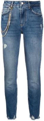 Liu Jo Chain Detail Straight Jeans