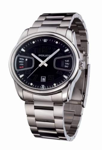 Police Men's PL-11774JS/02M Pursuit Oval Day-Date Steel Watch
