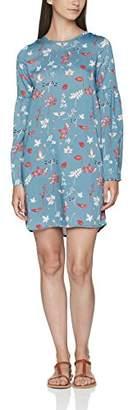 Vero Moda Women's Vmsanne L/s Short Dress Party Dresses, Blue (Blues Tone AOP:Sanne Print Stone Comb.), (Manufacturer Size: Medium)