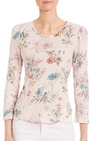 Rebecca Taylor Meadow Jersey Floral-Print Top