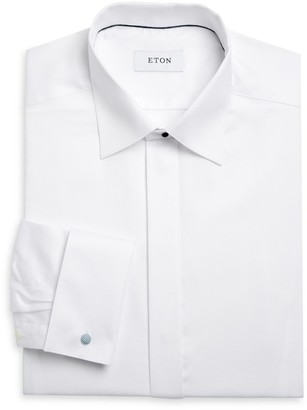 Eton Contemporary Fit Diamond Weave Formal Shirt
