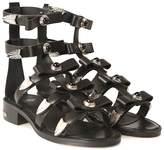 Toga Pulla Studded Leather Bow Sandal