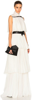 Giambattista Valli Pleated Georgette Tiered Gown