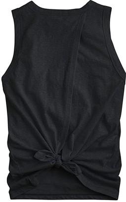 J.Crew Tie-Back Tank Top (Black) Women's Clothing