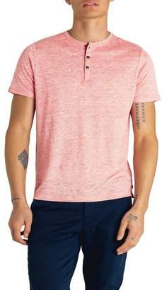 Good Man Brand Heathered Short Sleeve Linen Henley