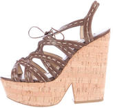Michael Kors Lace-Up Platform Wedges