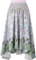 Peter Pilotto diamond print gingham skirt
