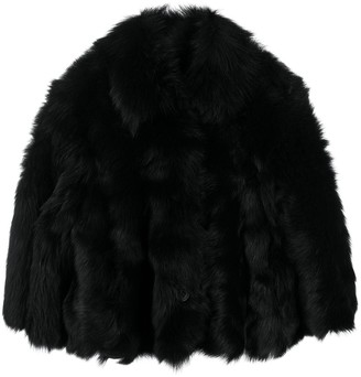 RED Valentino Furry Cropped Jacket