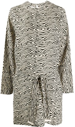 Nanushka Hierro zebra-print dress