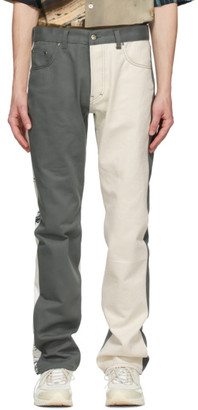 Serapis Grey and White Panel Sketch Jeans
