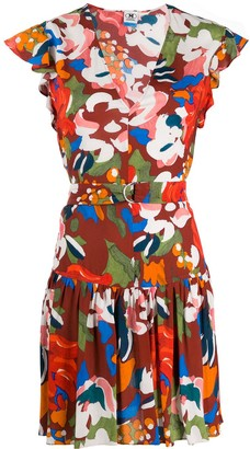 M Missoni floral print flared dress