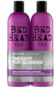 Bed Head Cosmetics Tigi Bed Head Dumb Blonde Shampoo and Conditioner for Blonde Hair 2x750ml