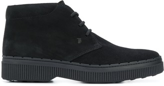 Tod's chunky desert boots - ShopStyle