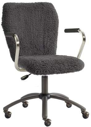Pottery Barn Teen Charcoal Sherpa Airgo Desk Chair, Armchair