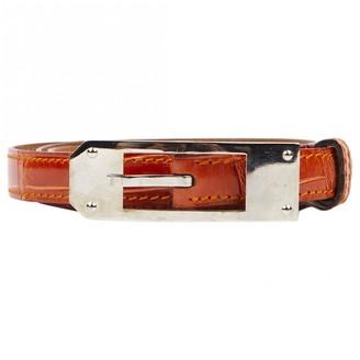 Hermã ̈S HermAs Orange Crocodile Belts