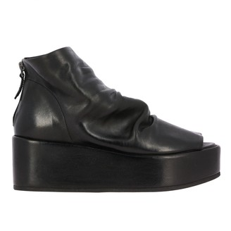 Marsèll Ridritta Ankle Boot In Draped Leather