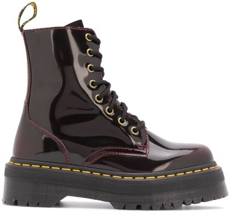 Dr. Martens Laminated Lace-Up Ankle Boots