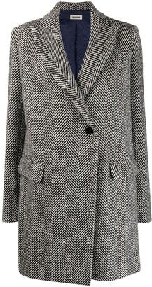 Zadig & Voltaire Herringbone Single-Breasted Coat