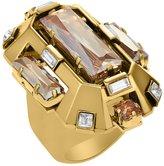 Swarovski Lanvin Cristaux Deco Cocktail Ring - Golden