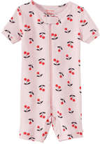 Joe Fresh Baby Girls' Short Sleeve Sleeper, Light Pink (Size 3-6)