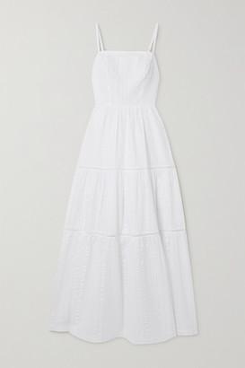 Heidi Klein Tiered Cotton-seersucker Midi Dress - White