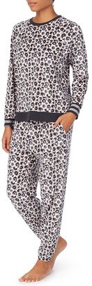 DKNY Lounge Life Long Sleeved Top & Jogger Sleep Set