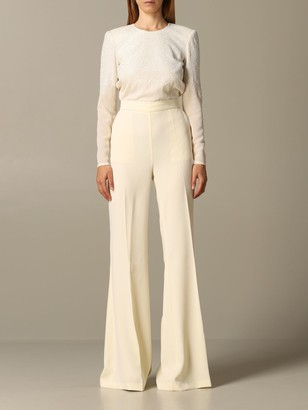 Elisabetta Franchi Long Jumpsuit With Embroidery