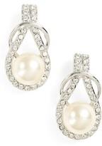 Nina Women's Knot Imitation Pearl Drop Earrings