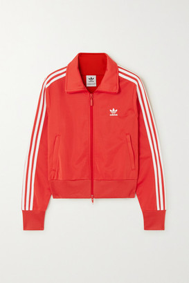 adidas Firebird Striped Satin-jersey Track Jacket - Red