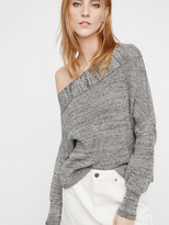 Free People Alana Pullover in Grey