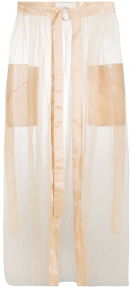 Loulou Tulle Overlay Skirt