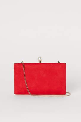 H&M Clutch Bag with Shoulder Strap - Red