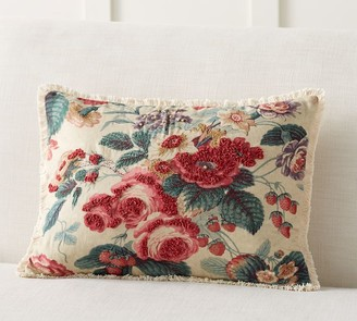 Pottery Barn Elia Floral Embroidered Pillow Cover