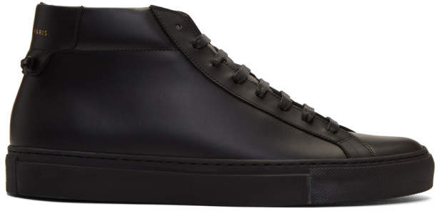 Givenchy Black Urban Street High-Top Sneakers