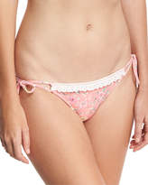 Ale By Alessandra Floral-Print California Tie-Side Bikini Swim Bikini Bottom, Pink