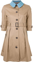 GUILD PRIME buttoned belted trench - women - Cotton - 34