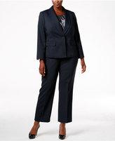 Le Suit Plus Size Three-Piece One-Button Pantsuit