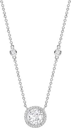 Kiki McDonough Grace 18k White Gold Topaz Diamond Pendant Necklace