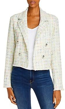 Aqua Cropped Tweed Blazer - 100% Exclusive