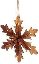 Kurt Adler Wooden Snowflake Ornament