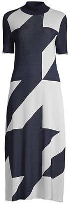 HUGO BOSS Fiah Geometric Dress