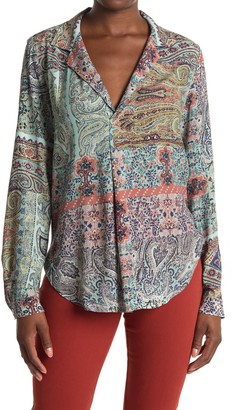Karen Kane Paisley Long Sleeve Tunic Top
