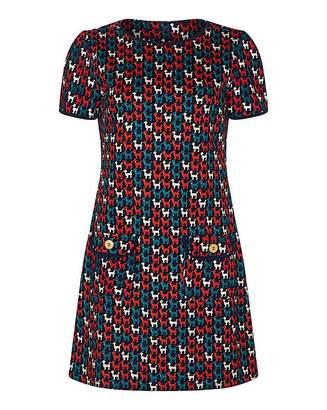 Yumi Curves Animal Print Tunic Dress