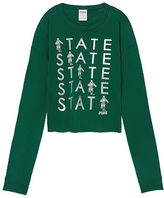 PINK Michigan State University Long Sleeve Campus Cutout Tee