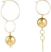 Mounser Women's Solar Hoop Purposely Mismatched Earrings